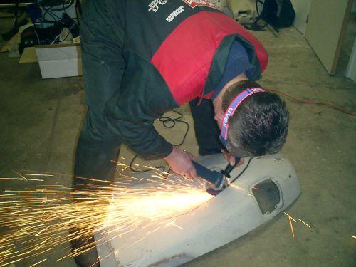 Grinding, cutting Citroen DS Classic Rally Bart Ebben