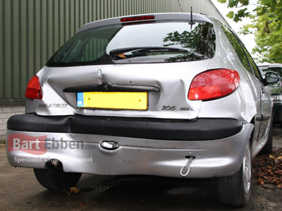 Peugeot 206 bumper - rear light - tailgate in case of car damage